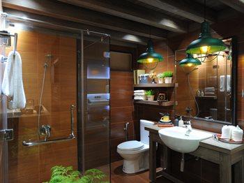 ห้องน้ำสไตล์ย้อนยุคด้วยกระเบื้องลายไม้CHATREE-WOOD-Series