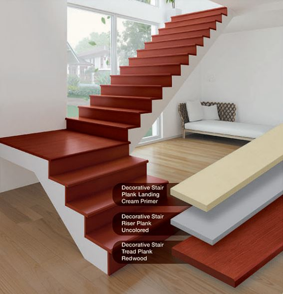 SCG Smartwood Decorative Stair Plank Wood Substitute 1