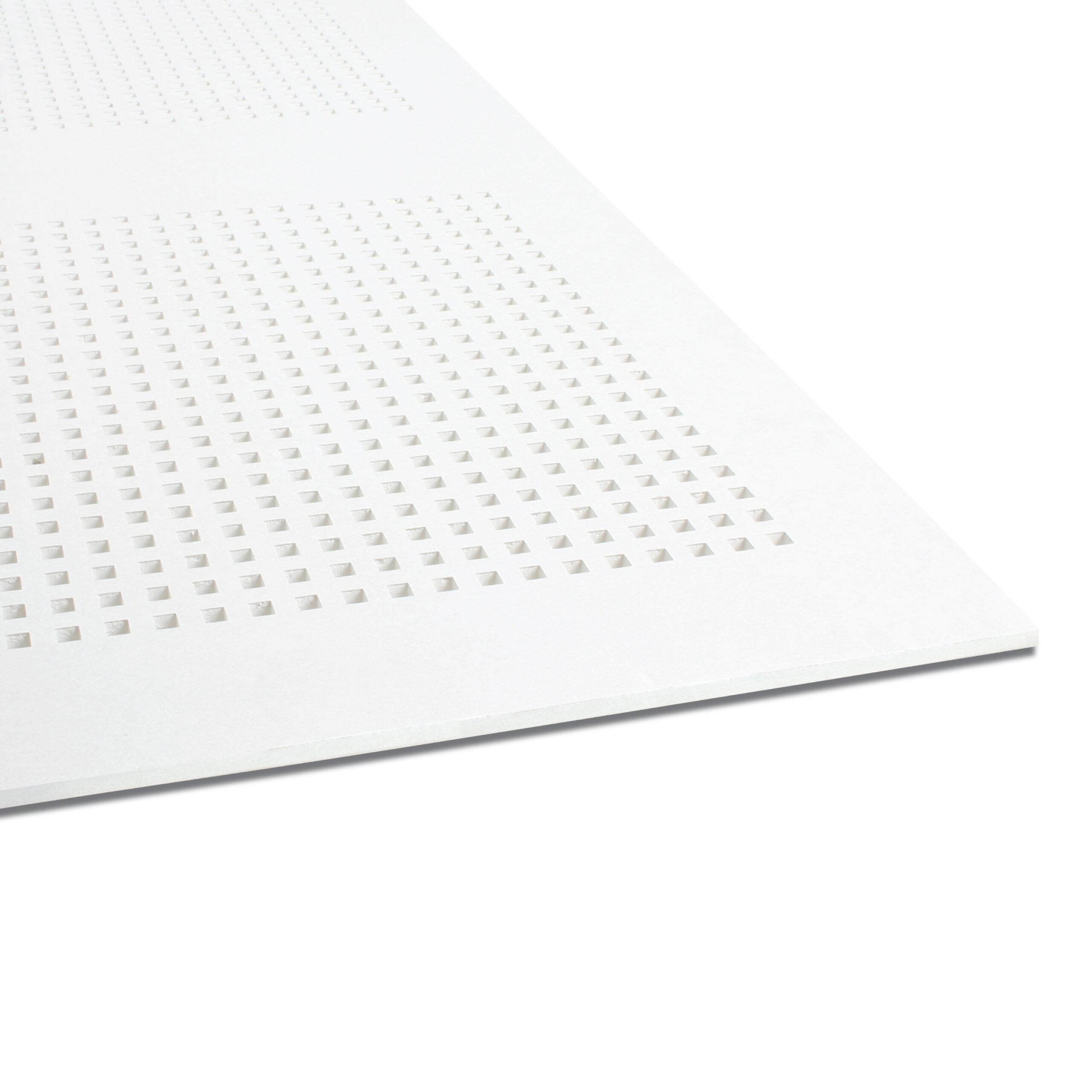 Good Acoustic Gypsum Board for ceiling EchoBloc-SQ-hole-3000x3000
