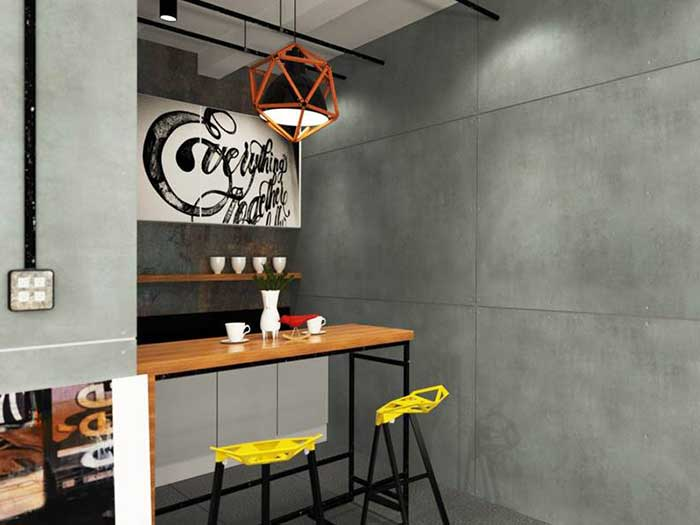 Decorate your wall and floor to be loft style by using SCG cement board