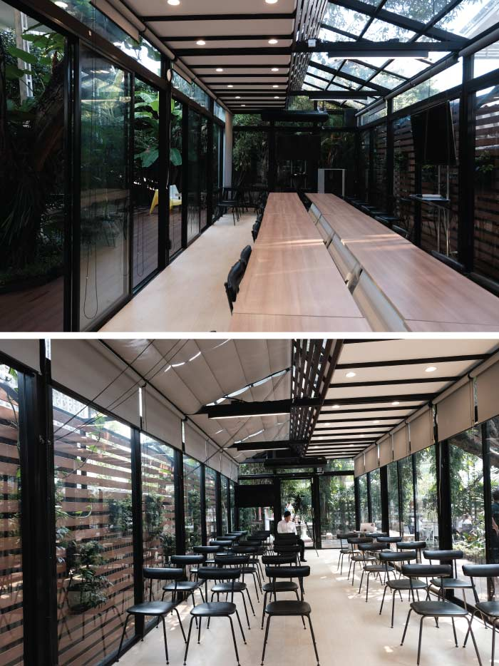Co-working space design - natural look