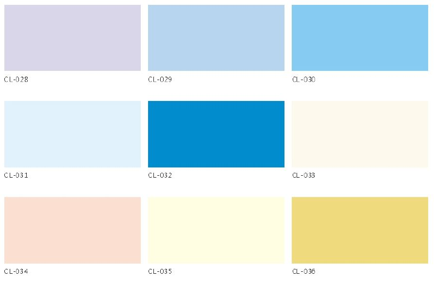 High Density Fiber Cement Board - Color Chart - Solid color series 4