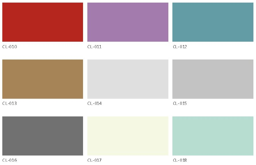 Montania High Density Fiber Cement Board - Color Chart - Solid color series 2
