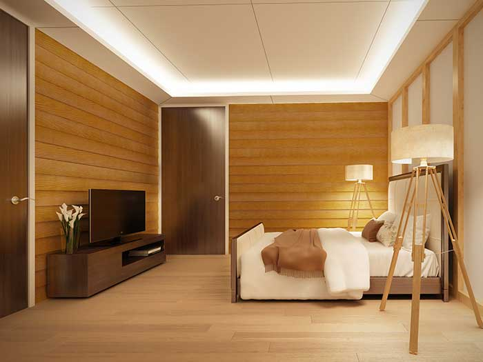 Loft ceiling decoration idea