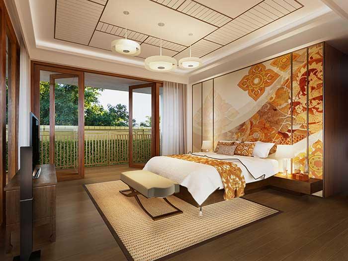 Modern Thai ceiling board decoration idea