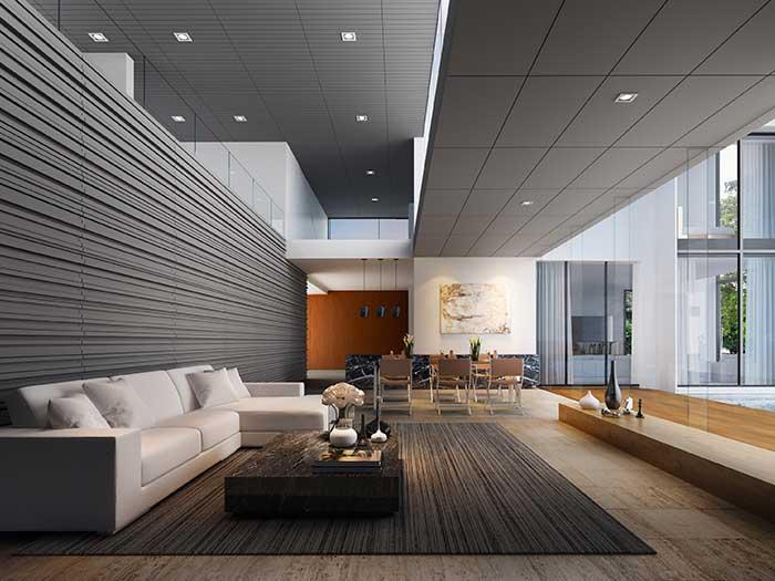 Modern ceiling board style