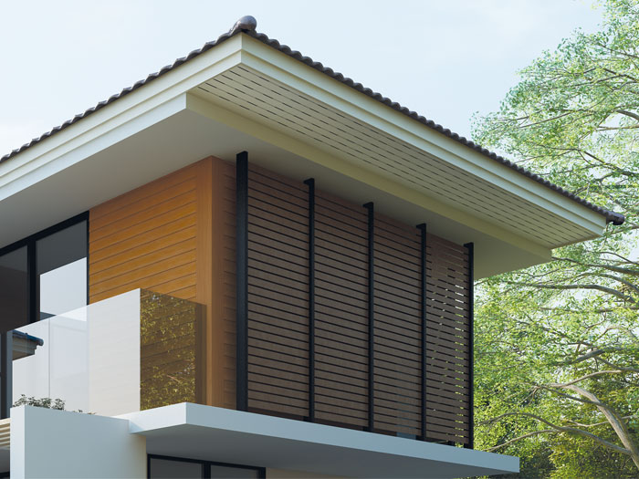 Ventilated Ceiling board for modern house
