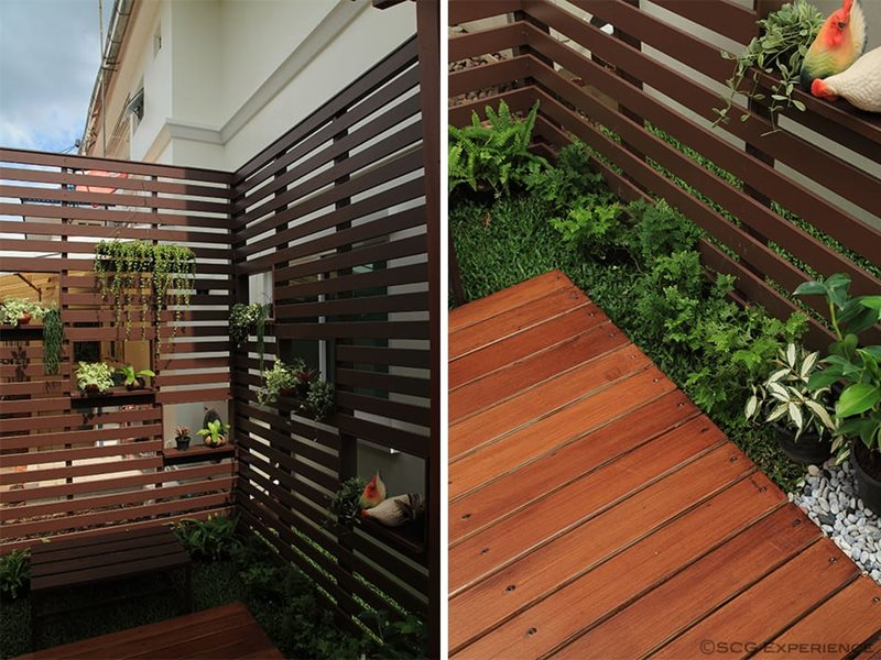 SCG artificial wood installation