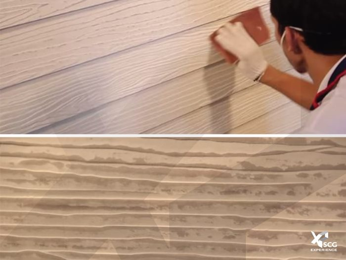 How to repaint SCG fiber cement wood board to keep it new