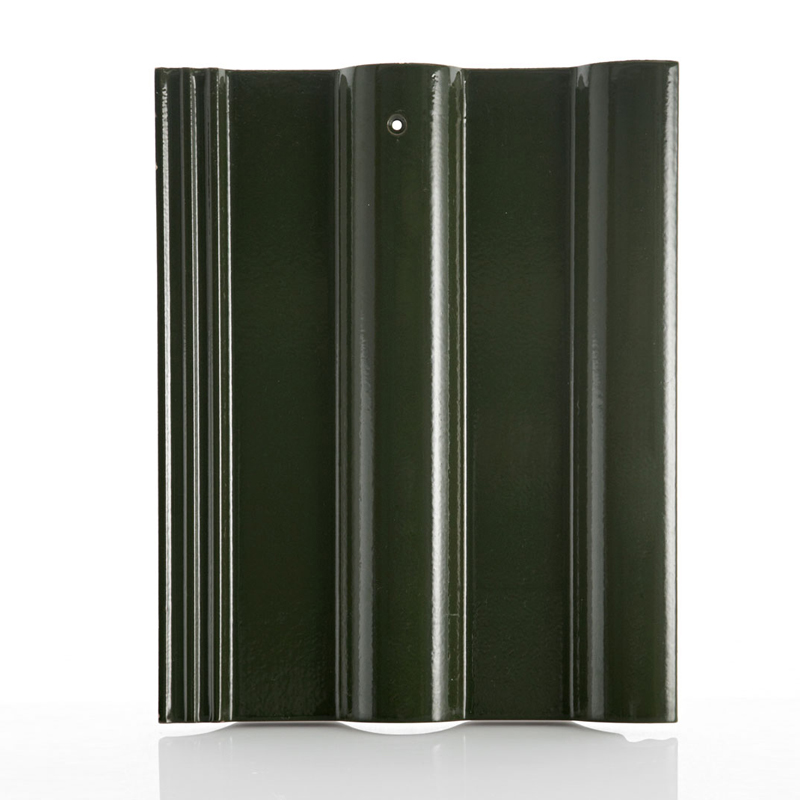 Long lasting beauty Ceramic Roof Tile -excella-classic-green-peridot-01
