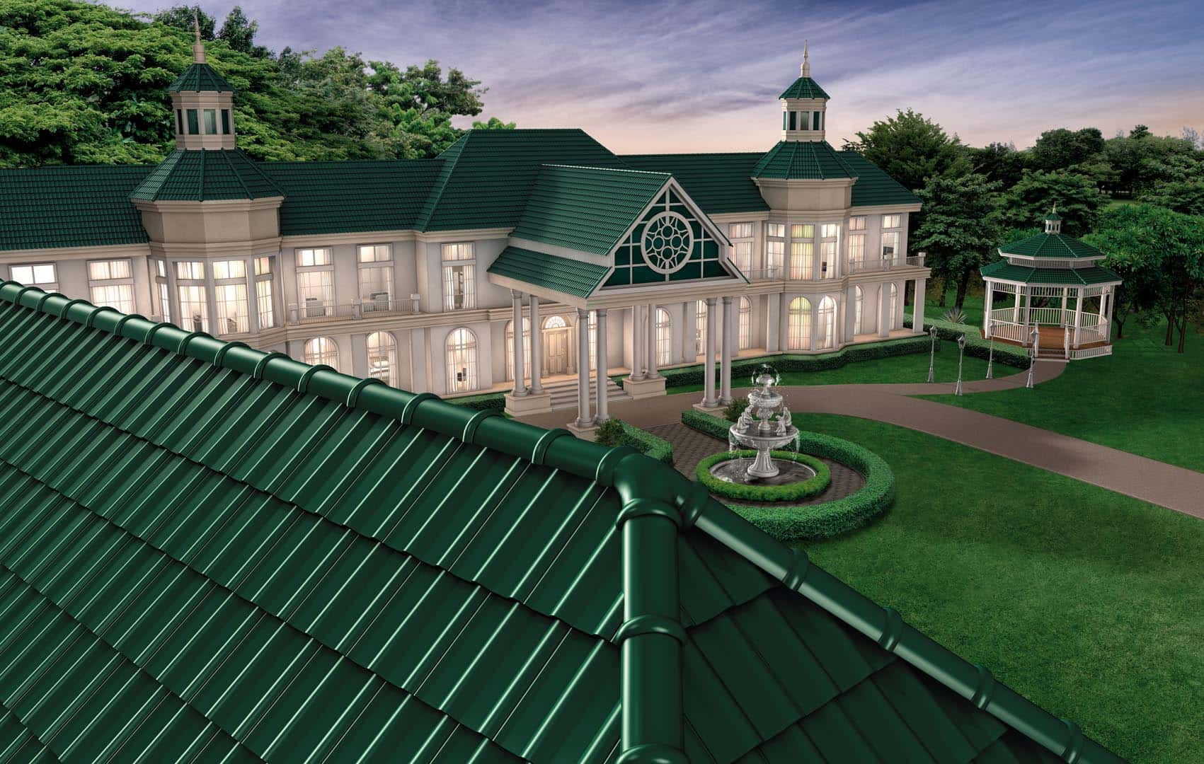 SCG Ceramic Roof Tiles for luxury house - Excella Classic Series