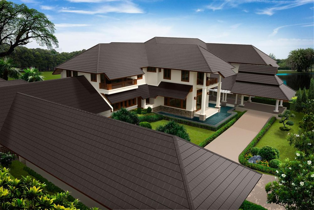 SCG Excella Modern Ceramic Roof Tile for luxury house