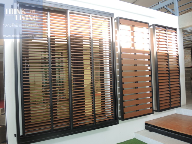 Artificial Wood Sunshade Louvers pattern