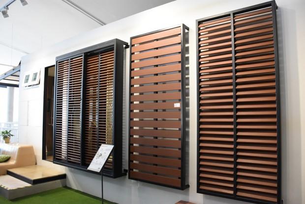 Artificial Wood Sunshade Louvers shop