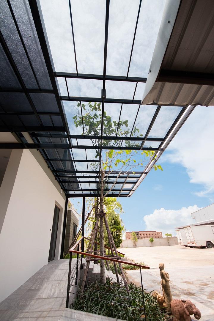 Best seller acrylic roof royal-blue-color-charungrat-08