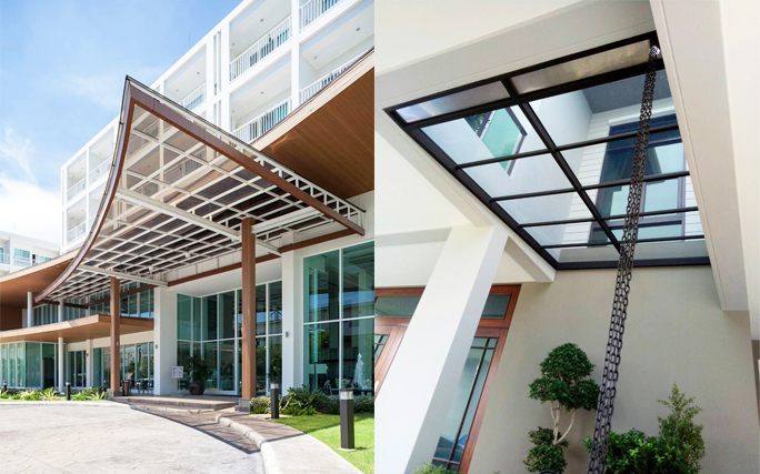 Entrance Acrylic Roof Idea