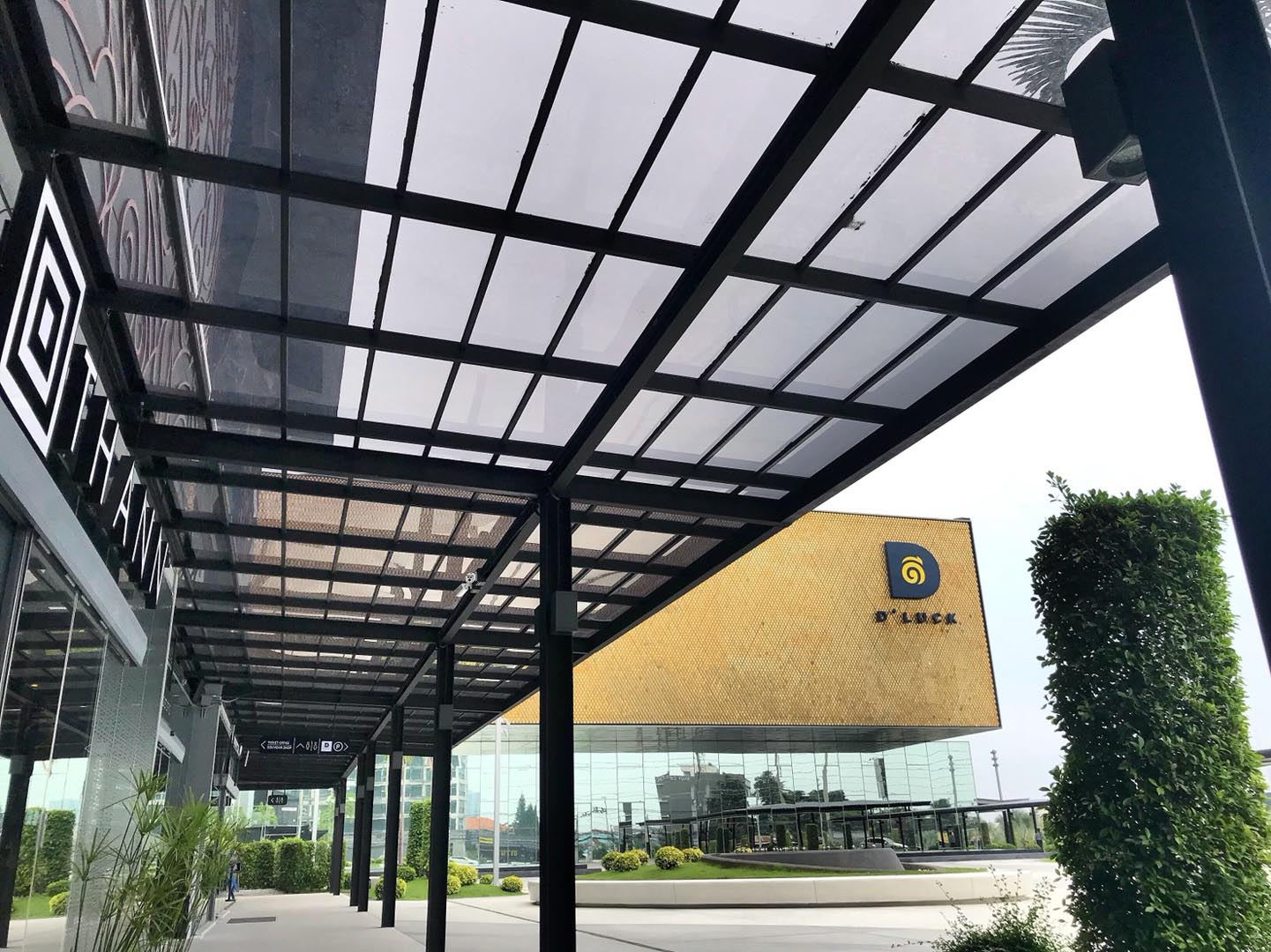 acrylic roof-heat-cut for parking series-modern-grey-color-d-luck-01