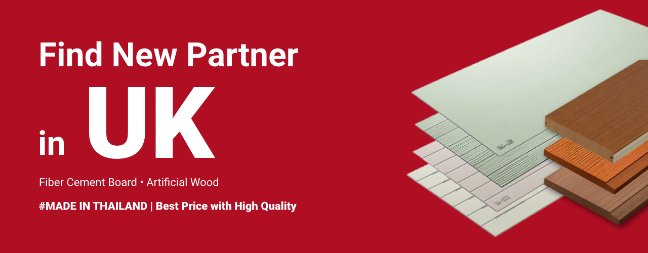 Find New Partner in UK - Fiber cement board-artificial wood made in thailand - New