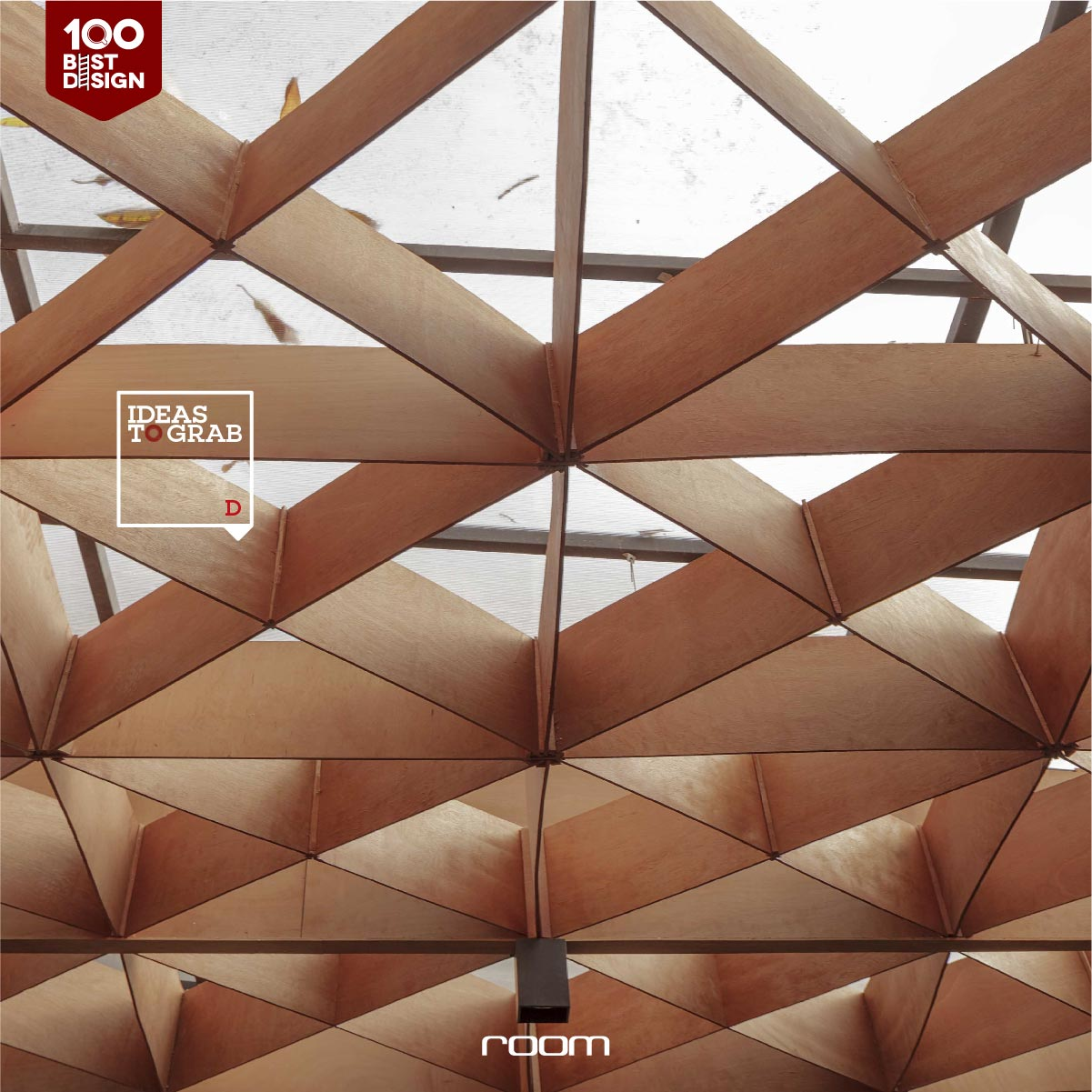 Ceiling decorate by wood idea