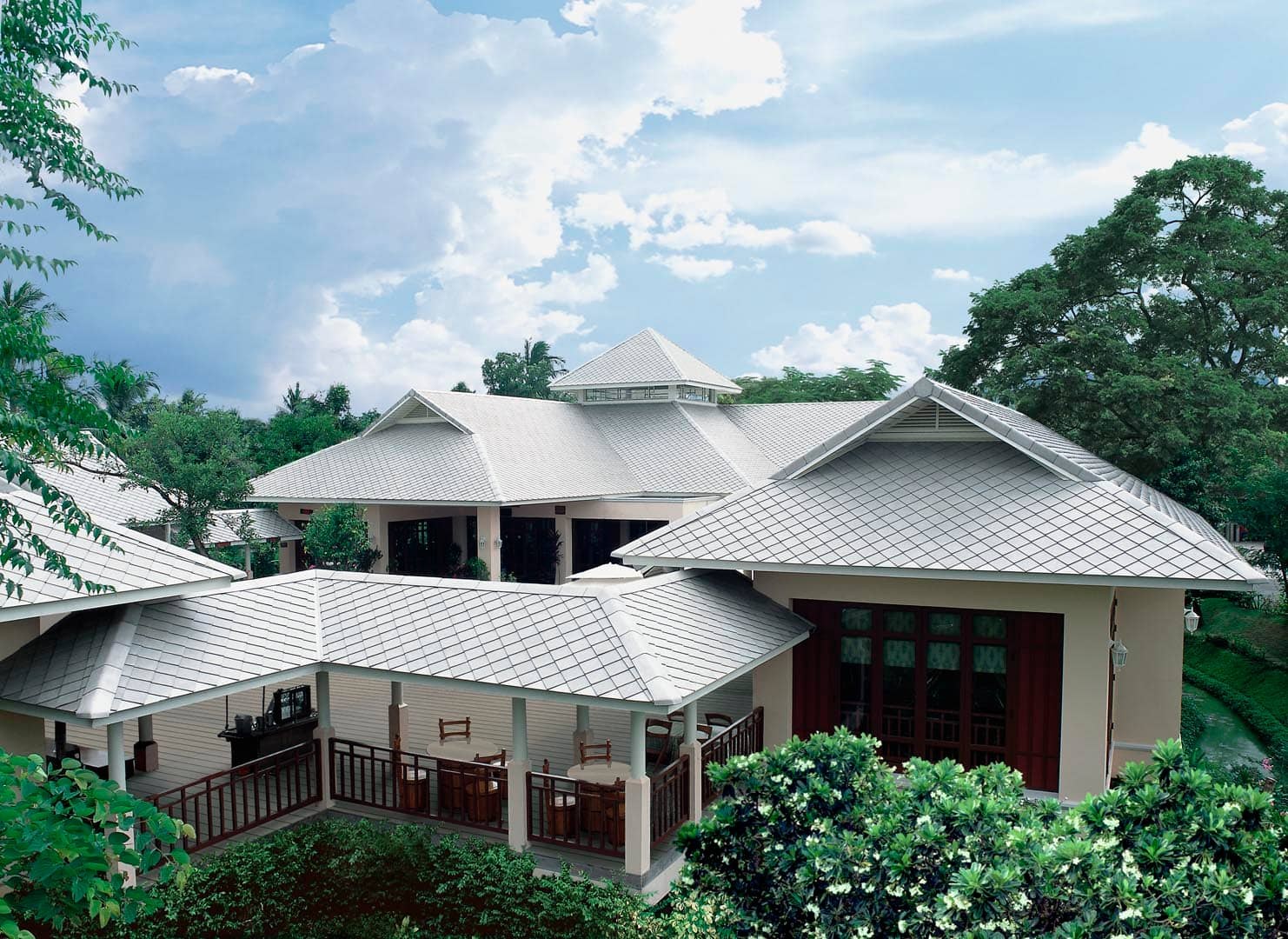 Fiber Cement Roof Ayara Classic Coral Grey site reference