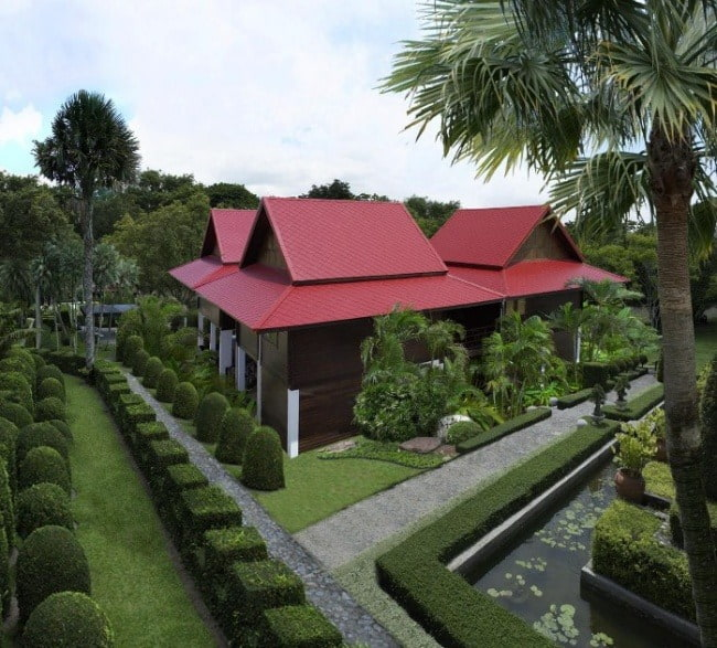 Fiber Cement Roof Ayara Classic Granite Red site reference 2
