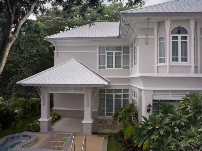 Fiber Cement Roof Ayara Classic Marble Grey site reference 1