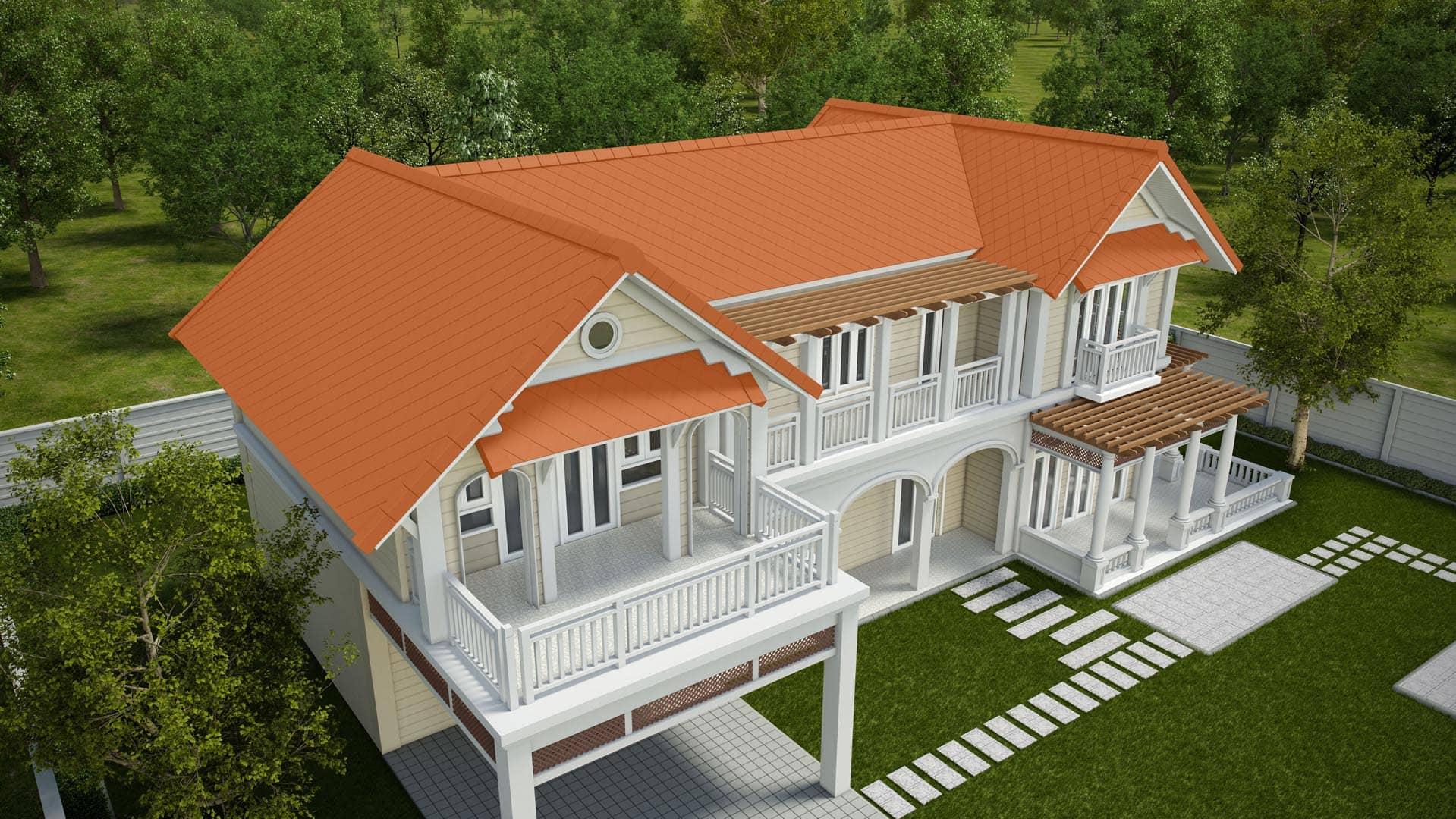 Fiber Cement Roof Ayara Classic Natural Brick site reference 3