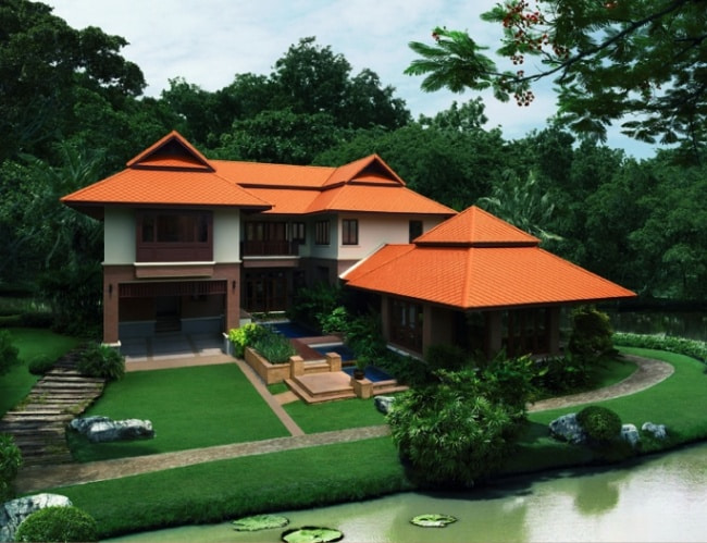 Fiber Cement Roof Ayara Classic Natural Brick site reference 5