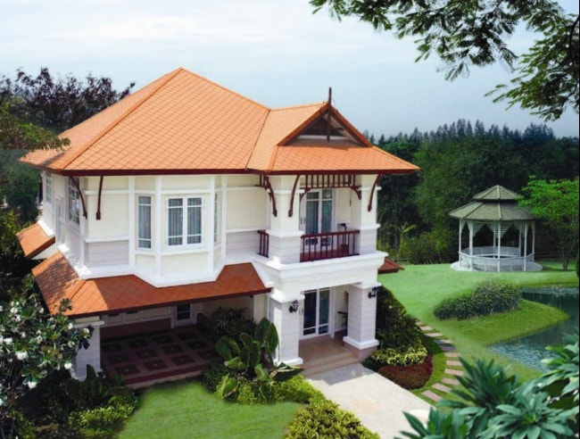 Fiber Cement Roof Ayara Classic Natural Brick site reference 6
