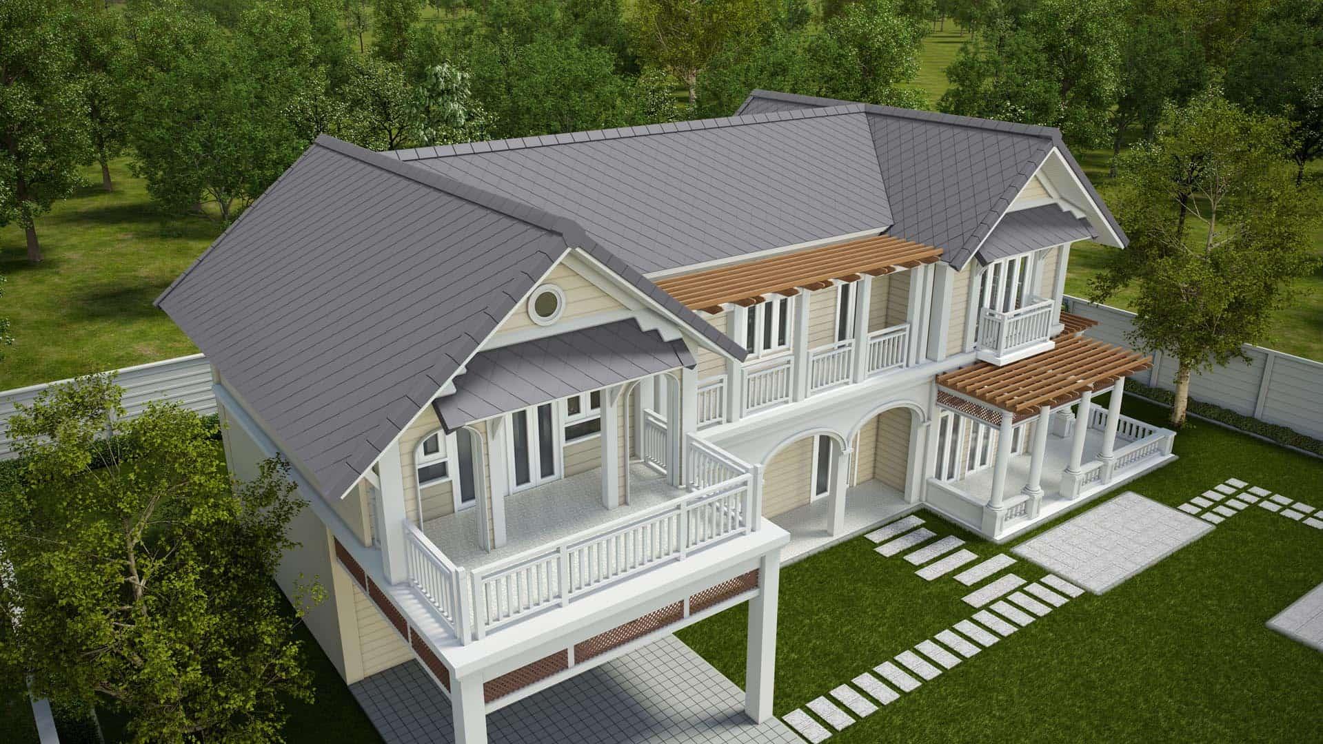 Fiber Cement Roof Classic Pattern - Ayara Classic