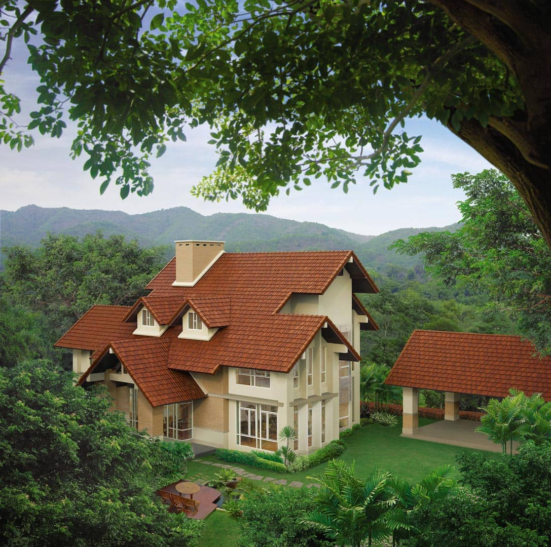 SCG Concrete Roof Tiles for house and resort - CPAC Series - Long lasting roof tiles