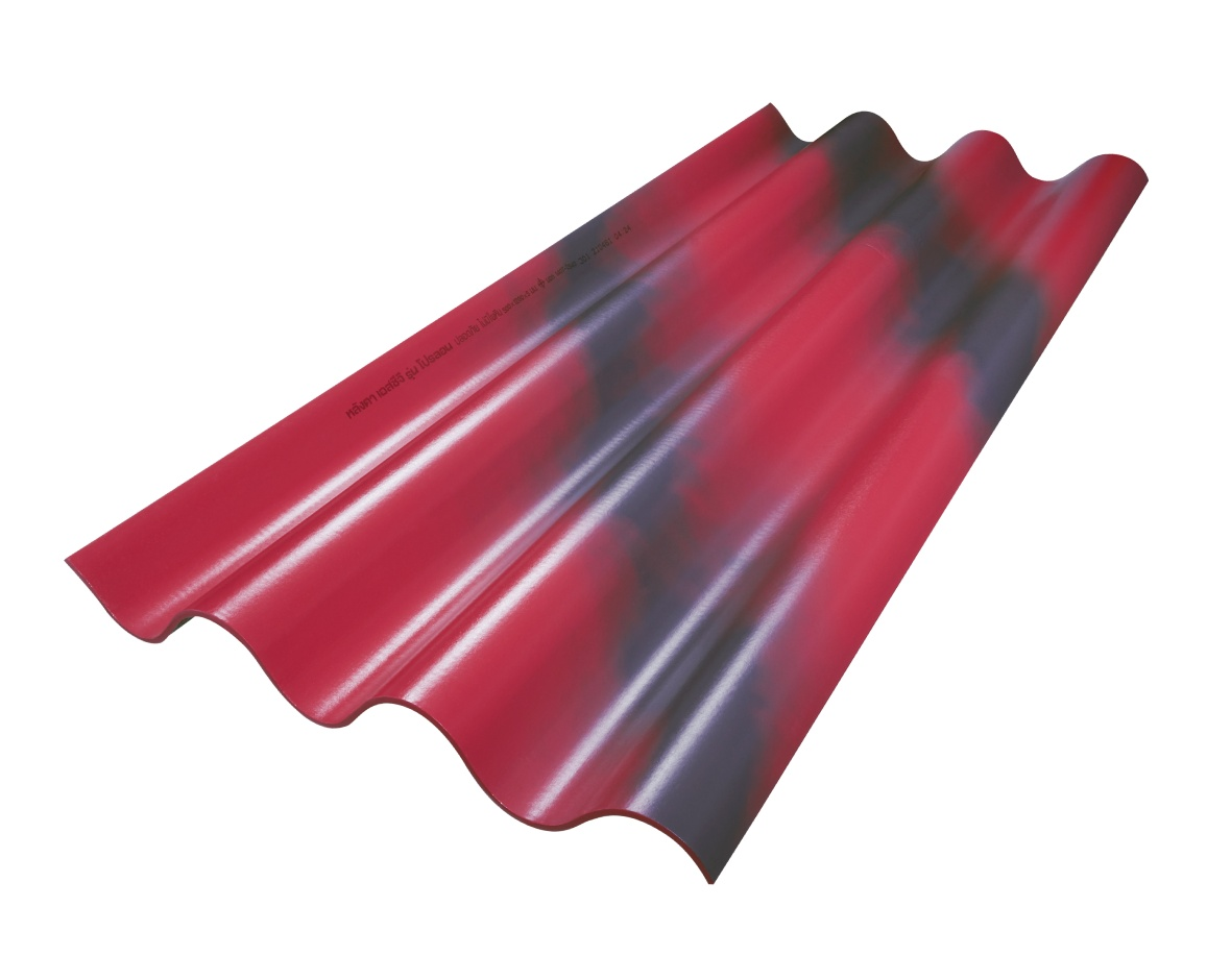 SCG Fiber Cement Roof Prolon Red Flash