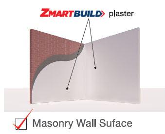 Zmartbuild Gypsum-Cement Plaster Masonry wall surface Application