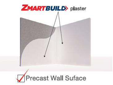 Zmartbuild Gypsum-Cement Plaster Precast wall surface Application