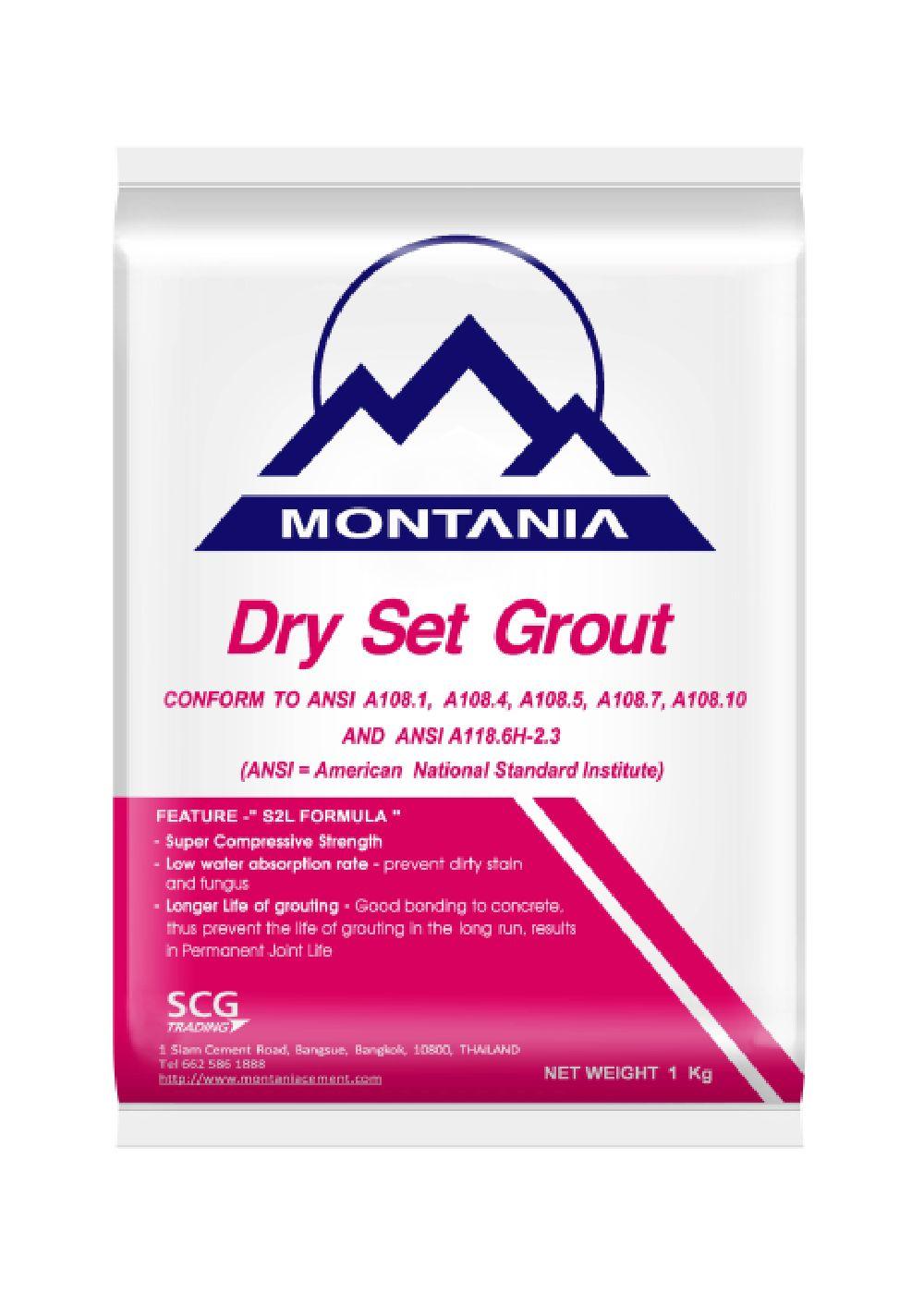 Montania Tile Grout - SCG Cement Manufacturer