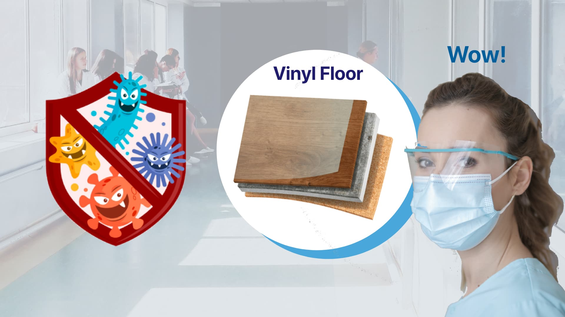 ZMARTBUILD Vinyl Floor for hospital use