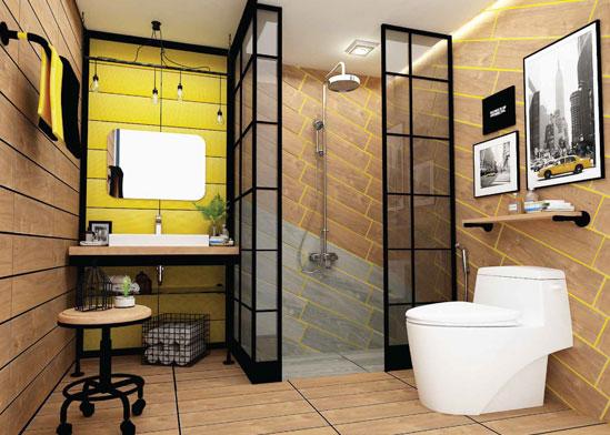 ห้องน้ำLoft-ห้องน้ำลายไม้-thumb