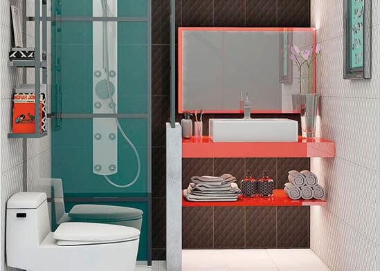 ไอเดียห้องน้ำ-ตัวอย่างห้องน้ำลายกราฟฟิก