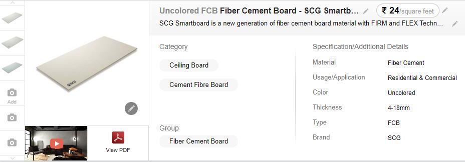 Best Quality Fiber Cement Board in Indiamart
