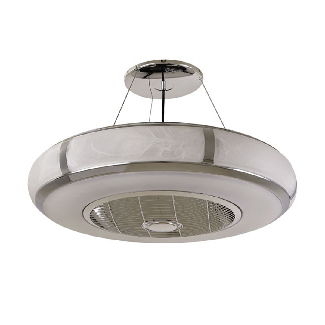 AURA- Circulation Fan with Light Chrome