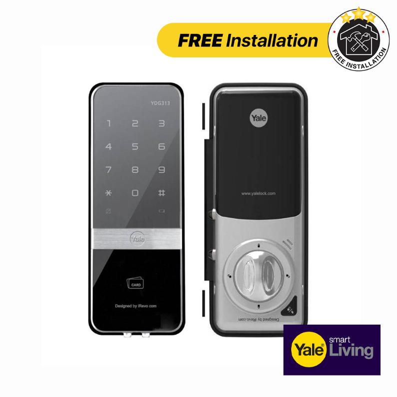 Yale Digital Rim Lock for Glass YDG313 - FREE Installation