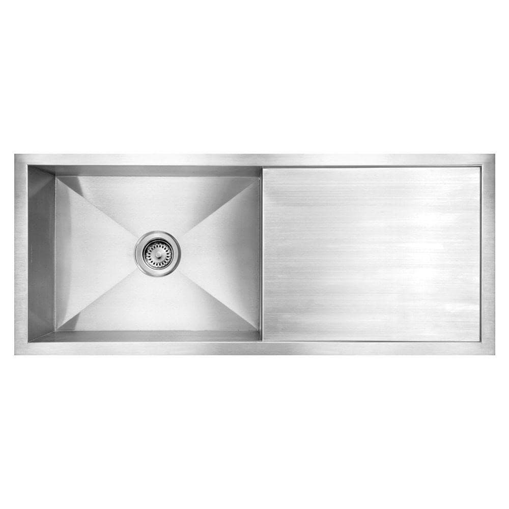 Kitchen sink with one single bowl together with the tray surface