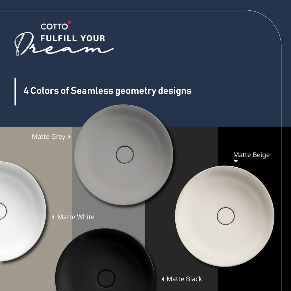 Sensation collection Wash basin 4 colors design