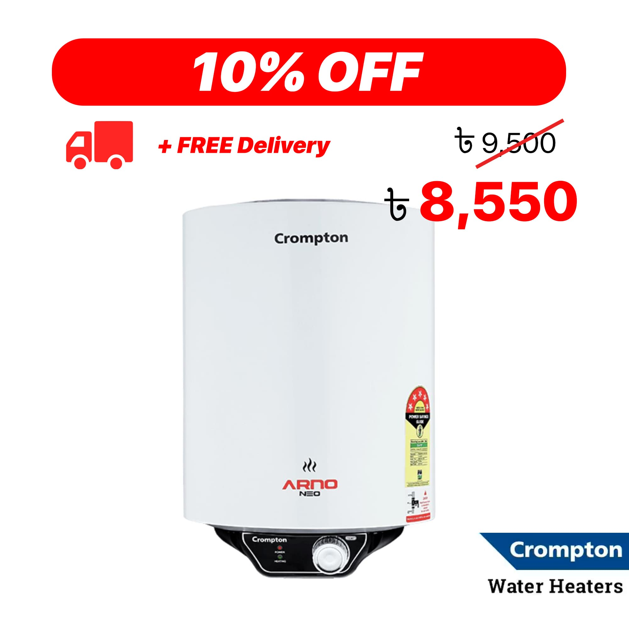 Crompton Arno Neo – Water Heater Promotion in Bangladesh