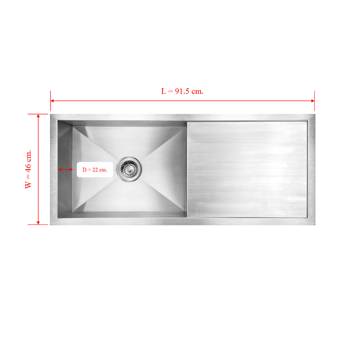 Kitchen Sink Single Bowl with tray Surface 3.5 mm Bowl 1.2 mm (Zm 91546A)