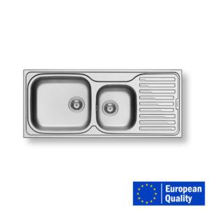 PYRAMIS AMALTIA PLUS Sink – DOUBLE BOWL SINGLE TRAY (LEFT).1