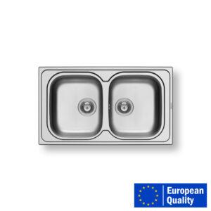 PYRAMIS AMALTIA Sink – BOUBLE BOWL.1