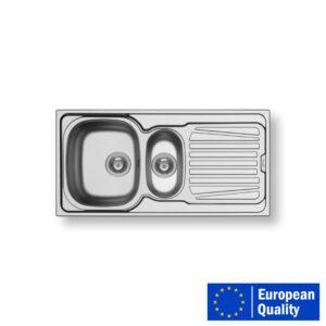 PYRAMIS SPARTA Sink - 1 1-2 BOWL SINGLE TRAY (SMOOTH S.S.).1