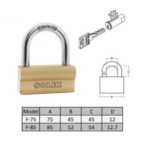 SOLEX Pad Lock - R-75