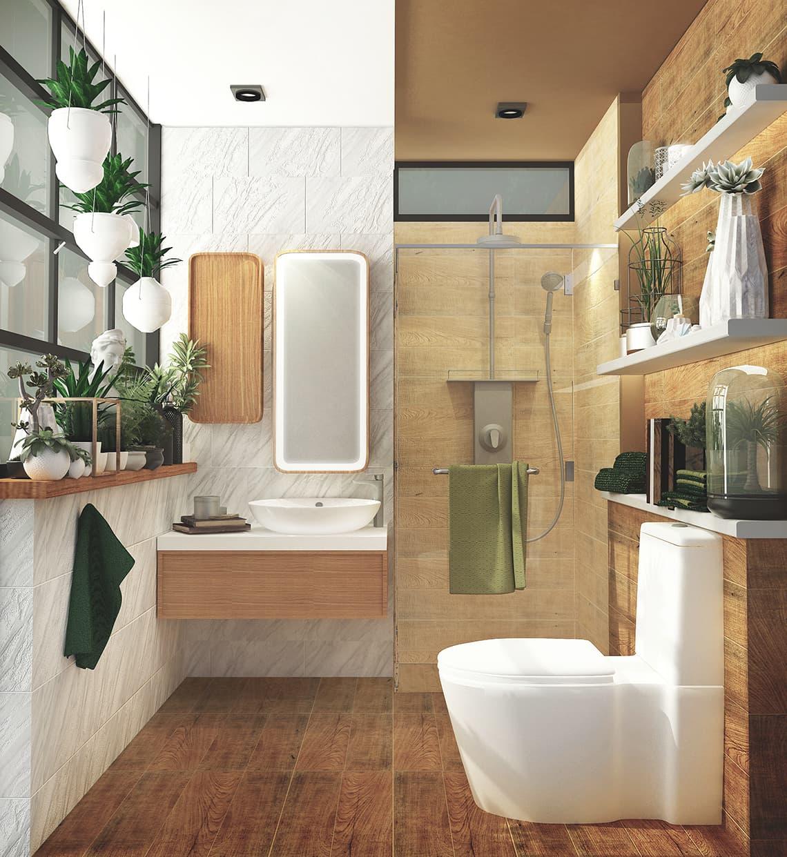 Small bathroom decorate CRAFTSMAN